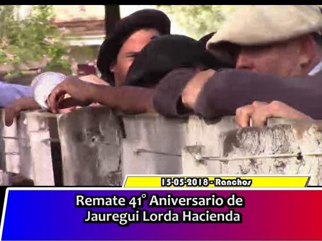 Jauregui Lorda remate 41 Aniversario