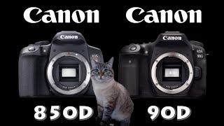 Canon EOS 850D / Rebel T8i vs Canon 90D