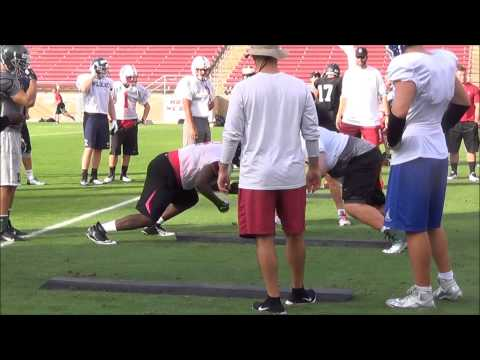 Stanford Camp Highlights: OL vs. DL