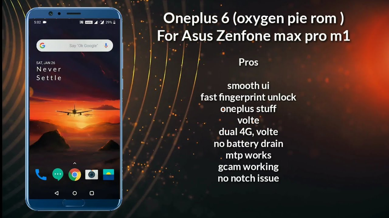 (updated)OnePlus 6 Rom (Oxygen pie rom) for Asus Zenfone max pro m1 battery  issue fixed