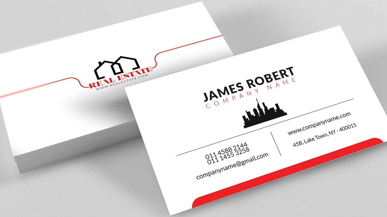 Clean Illustrator Business Card Design With Free Template Download