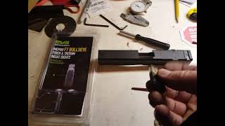 Meprolight FT bullseye sight Glock 17 installation