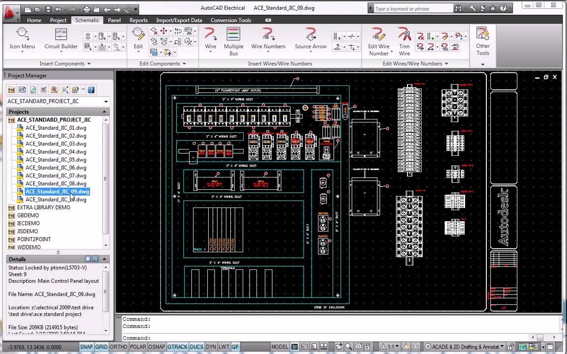 autocad electrical 2010 schematic design tools [ 1152 x 720 Pixel ]