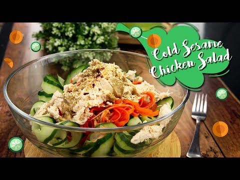 How To Make Cold Sesame Chicken Salad | Share Food Singapore