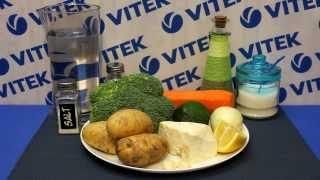 Рецепт приготовления овощного супа-пюре с авокадо в блендере VITEK VT-1473 W