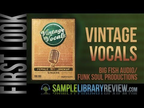 First Look: Vintage Vocals By Big Fish Audio - Funk/Soul Productions
