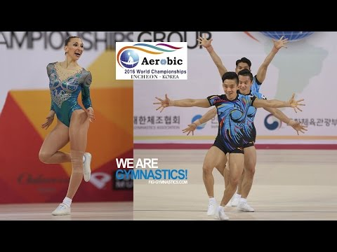 HIGHLIGHTS - 2016 Aerobic Worlds, Incheon (KOR) – Individual Women and Trios - We are Gymnastics !