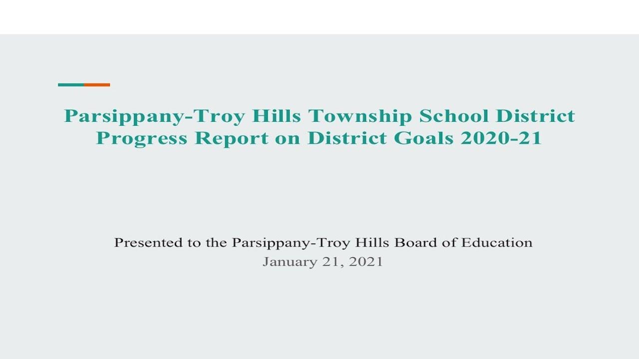 Parsippany School Calendar 2021-2022