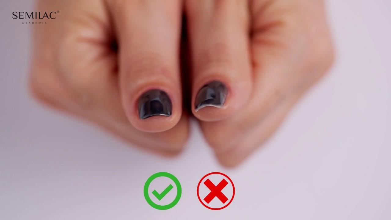Tajniki Perfekcyjnego Manicure Semilac Quick Edu 8 Youtube