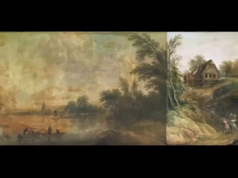 Bellingan Scott Fine Art Restoration, 18th century oil painting time lapse Feb 2016