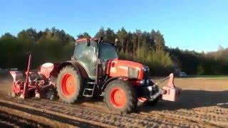 Siew kukurydzy z firmą Adrol! Kubota mgx135 i Kverneland Accord Optima HD e drive. DabroLs