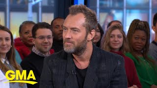 Jude Law shares how his son is following in his footsteps as an actor l GMA