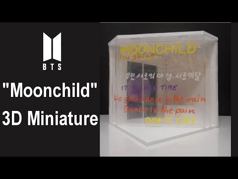 "Let's Craft: BTS RM ""Moonchild"" inspired miniature"