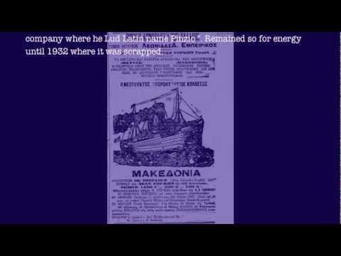 Macedonia (cruiser) Greek passenger steamship. 1912