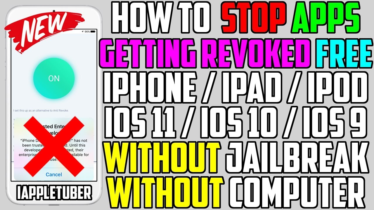 Better Than Anti Revoke? STOP Apps Getting Revoked FREE iOS 11 / 10 / 9 (NO  Jailbreak NO Computer)