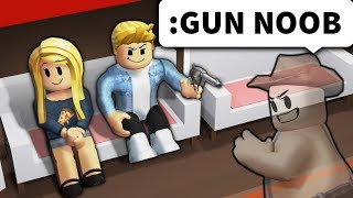 Roblox admin gave noobs WEAPONS to see what they'd do...