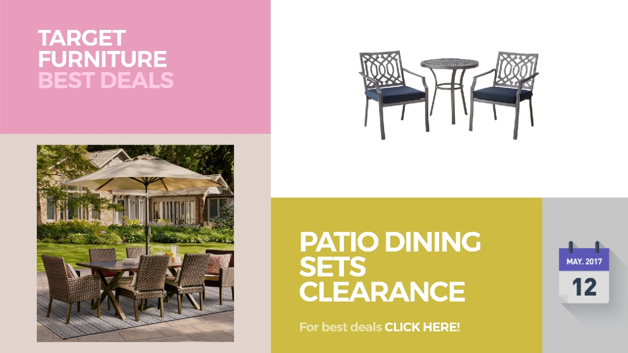 Patio dining sets clearance target furniture best deals for Best deals on patio furniture sets