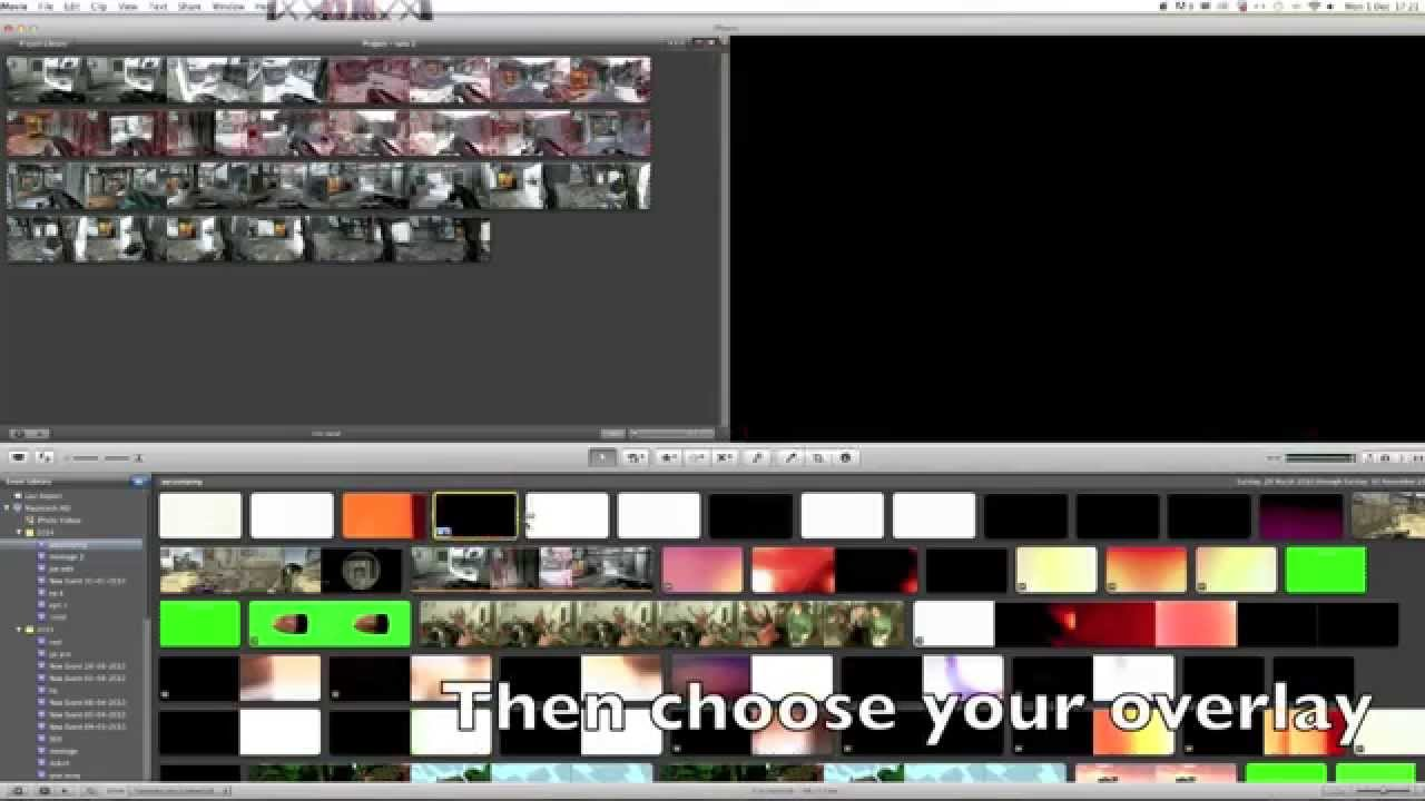 how to add overlays in imovie