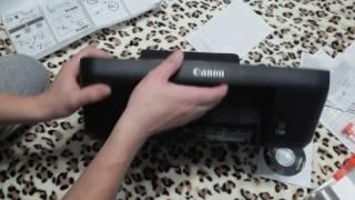 Canon PIXMA E414 Струйное МФУ Распаковка и обзор. Бюджетный принтер МФУ Первый взгляд и вывод