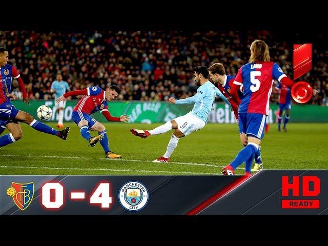 13.02.2018г. Базель - Манчестер Сити - 0:4. Обзор первого матча 1/8 Лиги чемпионов #1