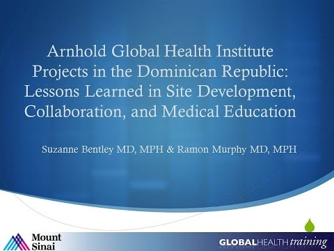 12/10/14: Arnhold Institute for Global Health: Projects in the Dominican Republic