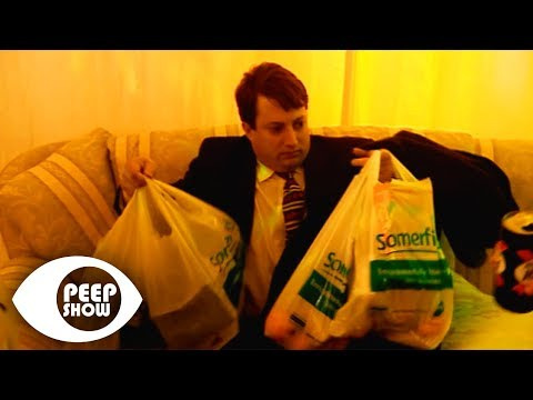 Bringing Shopping To A Party - Peep Show