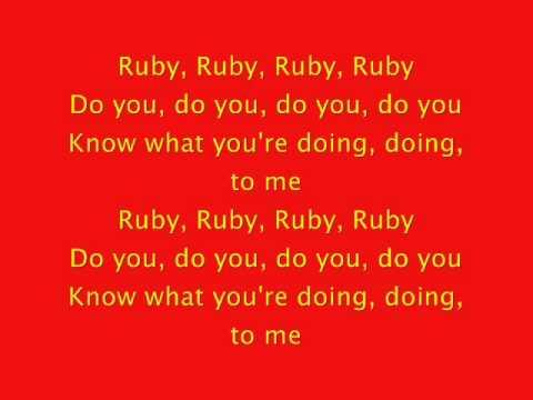 Kaiser Chiefs - Ruby Lyrics | MetroLyrics