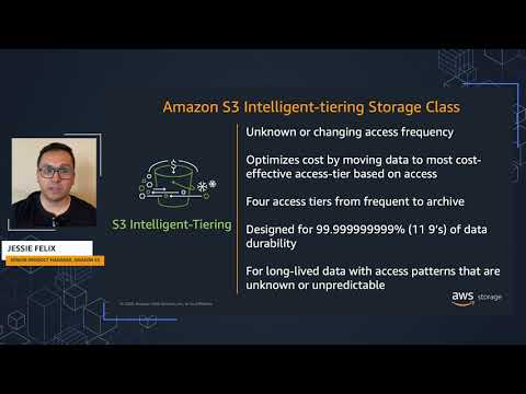 Amazon S3 Intelligent-Tiering: Adds automatic archiving