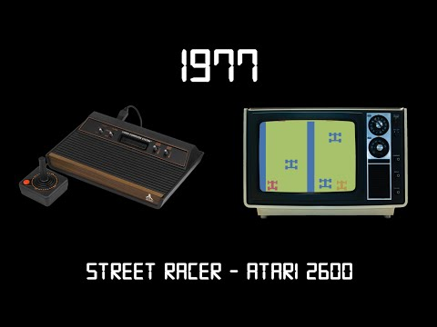 Gaming Through The Ages Phase 1 - 1977 - Street Racer - Atari 2600