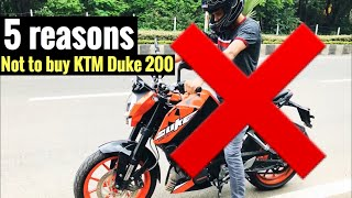5 reasons NOT TO BUY KTM DUKE 200 2018