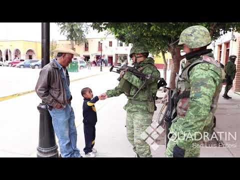 Guardia Militar arribó a Villa de Reyes, SLP