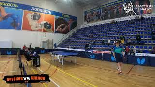 Шилов и Брусков игра за 1е место. Настольный теннис турнир Сперанского Орехово-Зуево 2005 и моложе 20 декабря 2020