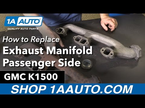 How to Replace Install Exhaust Manifold Passenger Side 96-97 GMC Sierra K1500