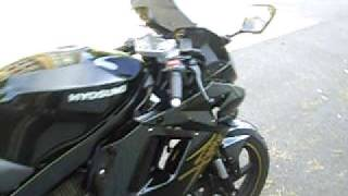 hyosung 125 gtr noir de 2008