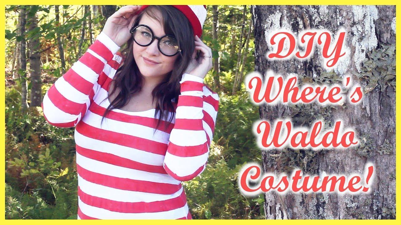 sc 1 st  YouTube & DIY: Whereu0027s Waldo Costume! - YouTube