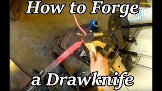 Blacksmithing - How to Forge a Draw Knife | Iron Wolf Industrial