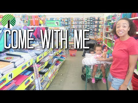 Come with Me to Dollar Tree - Back to School Supplies | Love Rymingtahn