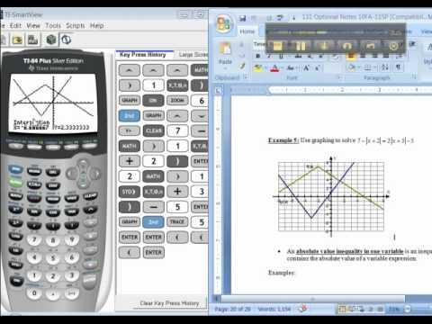 Ch 11 - Part 1 of 1 - Math 131 TI-83/84