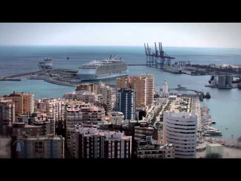 'Oasis of the Seas' 1st call in the Port of Malaga