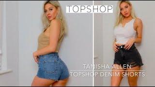 DENIM TOPSHOP BOOTY Haul | TOPSHOP Denim Shorts Try On 2019