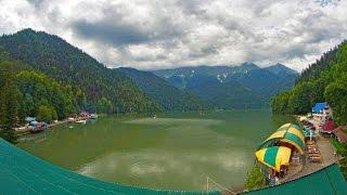 видео голубое озеро абхазия