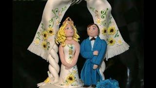 Свадебный торт. Как украсить торт на свадьбу мастикой. Часть 2