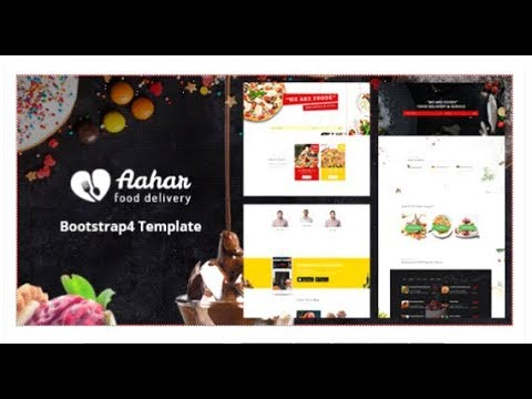 Aahar - Food Delivery Service Bootstrap4 Template   Themeforest Templates