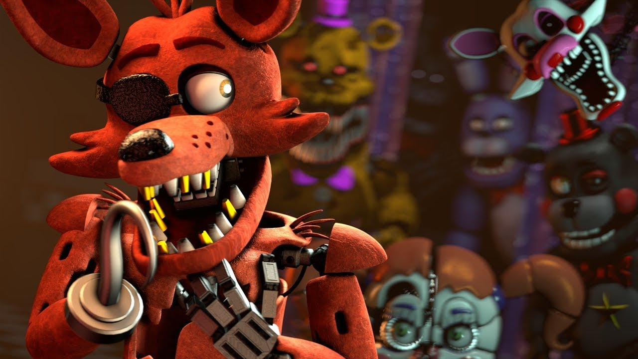 [SFM Fnaf] Foxy The Fox Pirate jumpscare - YouTube