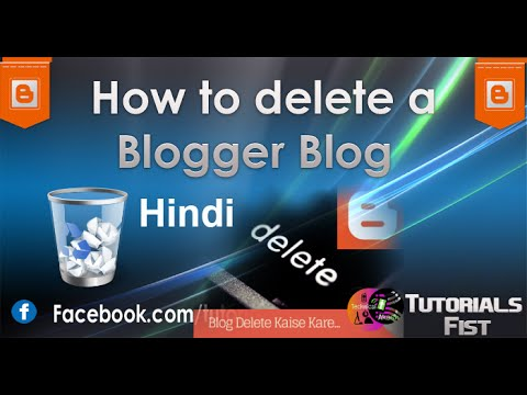 how to delete or deactive a blogger account permanently explained in [Hindi - हिन्दी]