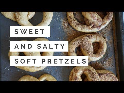 SWEET & SALTY SOFT PRETZELS//OIL FREE, HIGH CARB & VEGAN