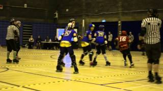 Auld Reekie Roller Girls Home Season: Cherry Bombers vs Leithal Weapons: P1J5