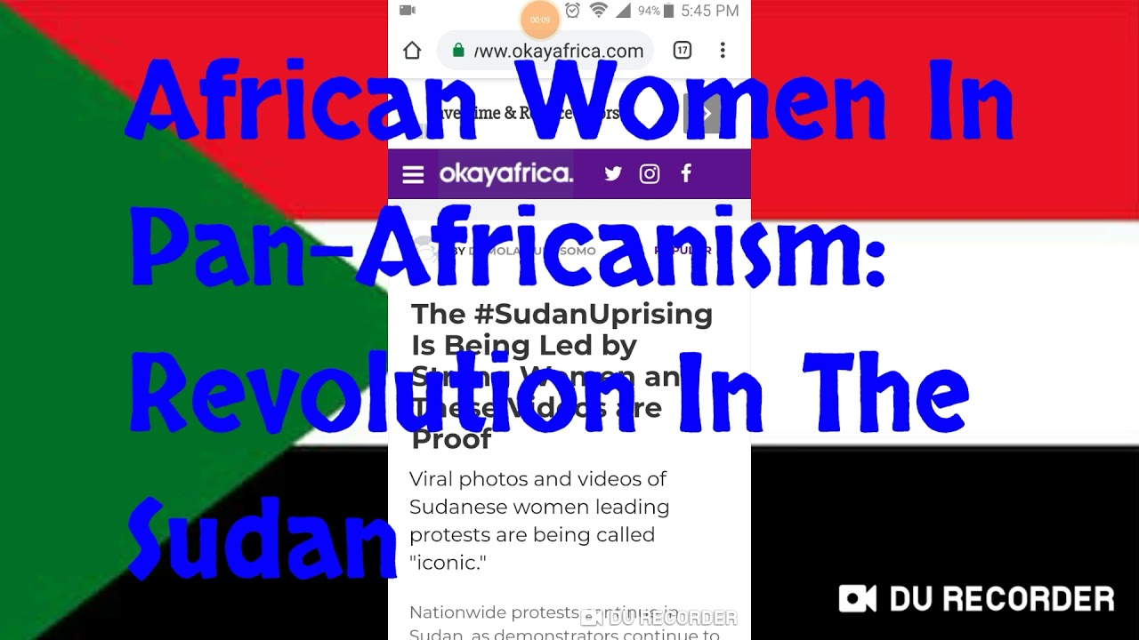 African Women In Pan-Africanism: Revolution In The Sudan