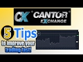 Cantor Exchange Binary Options 5 tips to improve your trading