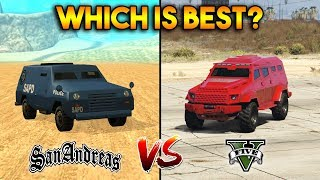 gTA 5 INSURGENT VS GTA SAN ANDREAS FBI TRUCK : WHICH IS BEST?